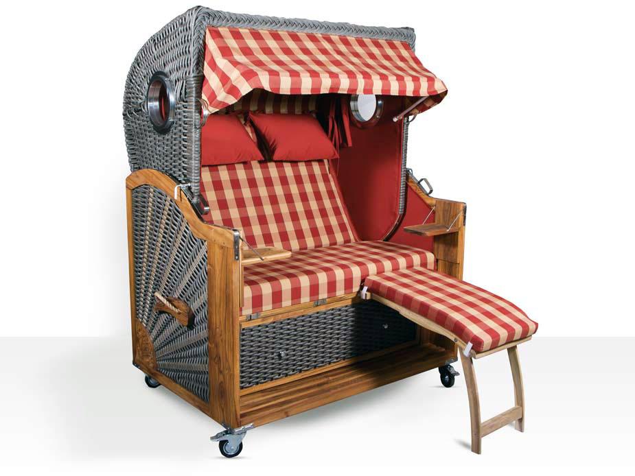 luxus vollieger strandkorb kampen spezial 2 sitzer mocca duo. Black Bedroom Furniture Sets. Home Design Ideas